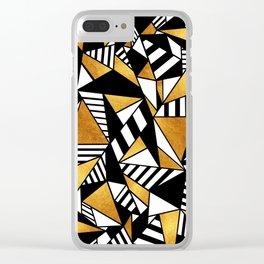 Geometric Gold Clear iPhone Case