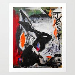 No need for tasting - Vegan Series - Original painting - Marina Taliera Art Print
