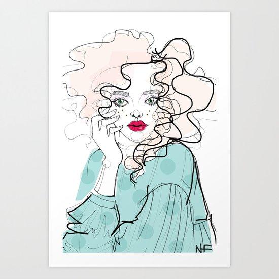 Curly Art Print