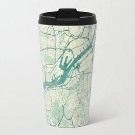 Gothenburg Map Blue Vintage Travel Mug