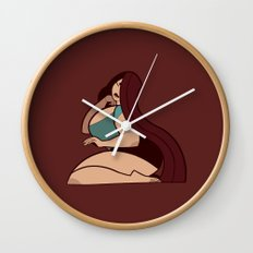 Teal Lady Wall Clock