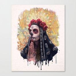 """Katrina"" - Skull girl Canvas Print"