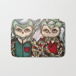 Mr. and Mrs. Owl Bath Mat
