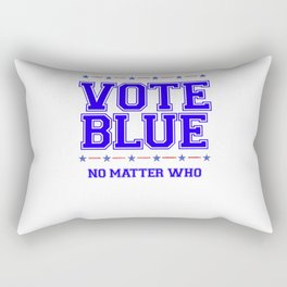 Vote Blue No Matter Who Wave 2020 Rectangular Pillow