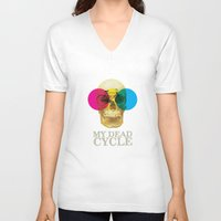 cycle V-neck T-shirts featuring CYCLE by Nazario Graziano
