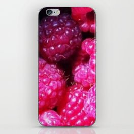 Summer with Raspberries iPhone Skin