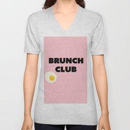 brunch club Unisex V-Neck