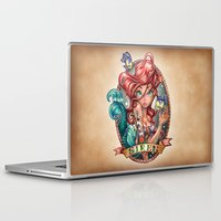 hair Laptop & iPad Skins featuring SIREN by Tim Shumate