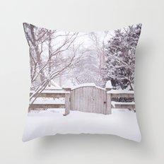 Snow Gate  Throw Pillow
