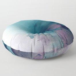 Teal Ultra Violet Vortex Floor Pillow