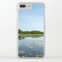 Pond Reflection Clear iPhone Case