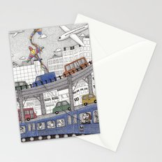 Taking the Red Line Stationery Cards