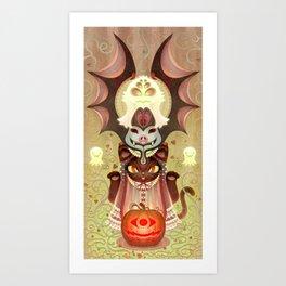 Trick-or-Treat Totem Art Print