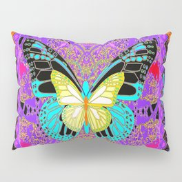 Lemon  Butterflies Morphing Western Style Abstract Pillow Sham