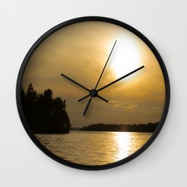 Against The Sun Bridge Wall Clock