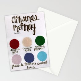 Christmas Morning - Palette Stationery Cards