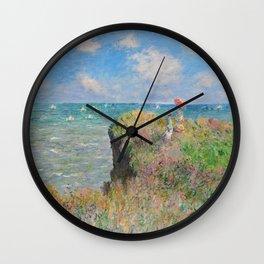"Claude Monet "" Cliff Walk at Pourville"" Wall Clock"