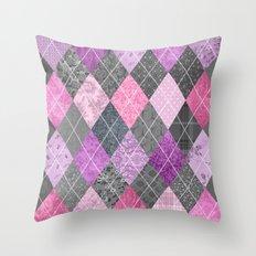 Magic Argyle Quilt Throw Pillow