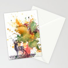 Buck Deer in Splash of Color Stationery Cards