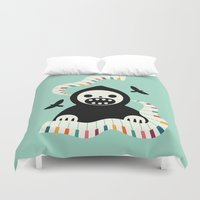 destiny Duvet Covers featuring Destiny Movement by Andy Westface