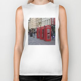 Telephone Booths Royal Mile Edinburgh Biker Tank