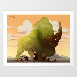 Grassland Giant Art Print