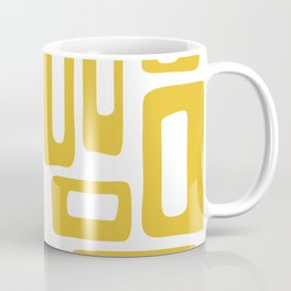 Retro Mid Century Modern Abstract Pattern 336 Mustard Yellow Coffee Mug