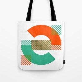 Rotation Alphabet 'e' On White Tote Bag