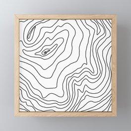 Minimal Black & White line art Modern Design Framed Mini Art Print