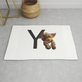 Y is for Yorkshire Terrier Dog Rug