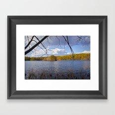 Hall Lake in Autumn No 0071 Framed Art Print