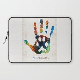 Rainbow Bridge Art - Never Forgotten - By Sharon Cummings Laptop Sleeve