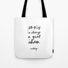 AUDREY SAYS Tote Bag