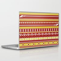 tony stark Laptop & iPad Skins featuring Tribal Heroes - Tony Stark by monobuu