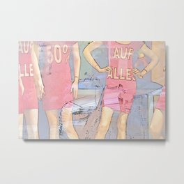 Sale in the clothing store Metal Print