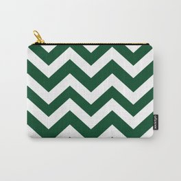 UP Forest green - green color - Zigzag Chevron Pattern Carry-All Pouch