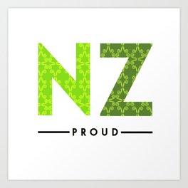 NZ PROUD Art Print