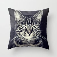 austin Throw Pillows featuring Austin by Rachel's Pet Portraits