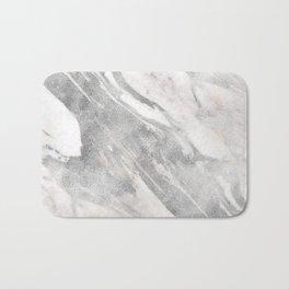 Castello silver marble Bath Mat