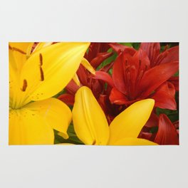 """""""A Gathering of Lilies"""" - 4 [D4469~57] Rug"""