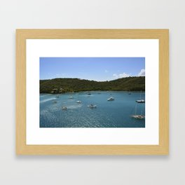 boats and blue Framed Art Print