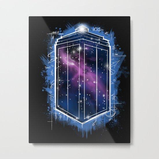 Time, Space, and Graffiti  Metal Print