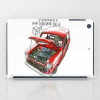 mini cooper iPad Cases featuring Mini Cooper Classic in Red by Swasky