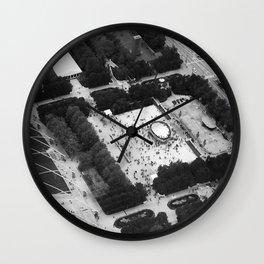 The Bean Cloud Gate Millennium Park Chicago Illinois Black and White Photo Wall Clock