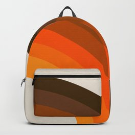Retro Golden Rainbow - Right Side Backpack