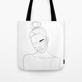 Lined Look Tote Bag