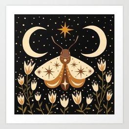 Between two moons Art Print