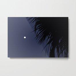 Palm Tree and the Moon Metal Print