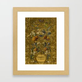 1880 Classical Masterpiece 'The Orange Tree' by William Jabez Muckley Framed Art Print