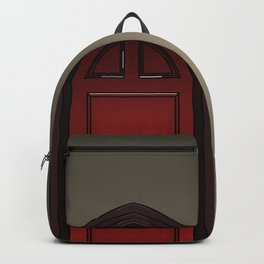 Red door in The Haunting of House Backpack